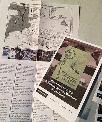 Documents from the Greenham Common Women's Peace Camp Catalog