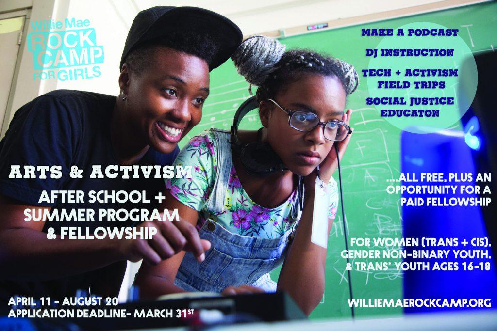 Arts and Activism Flier