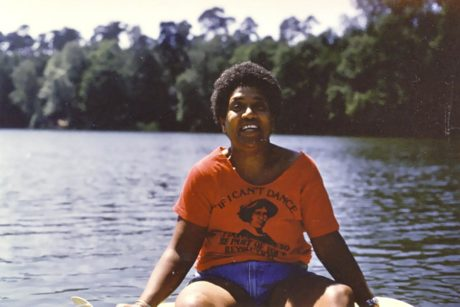 Audre Lorde wearing Emma Goldman t-shirt