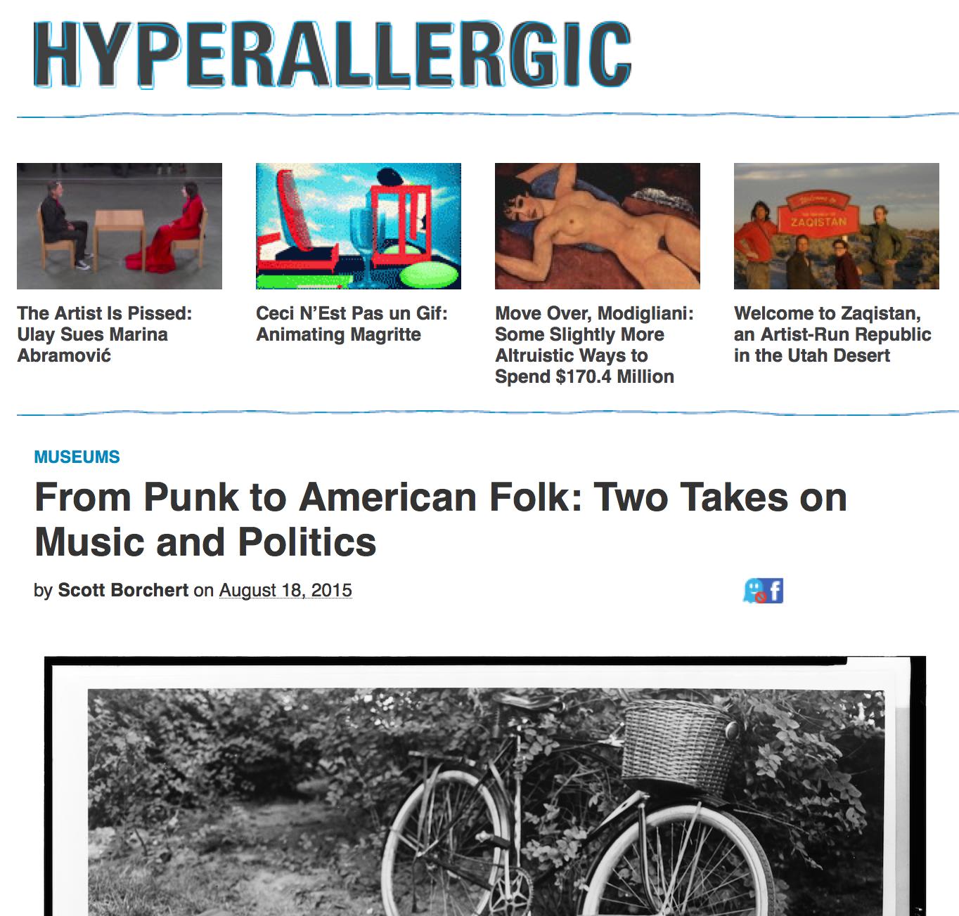 Hyperallergic: August 18, 2015