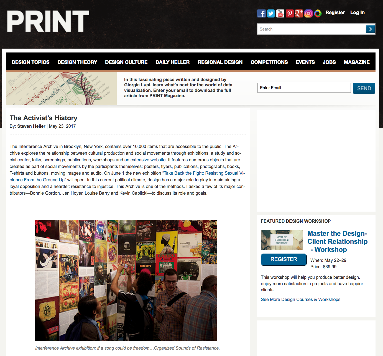 PRINT Magazine-The Activist's History by Steven Heller