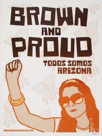 Melanie Cervantes, Brown and Proud, 2012. dignidadrebelde.com/
