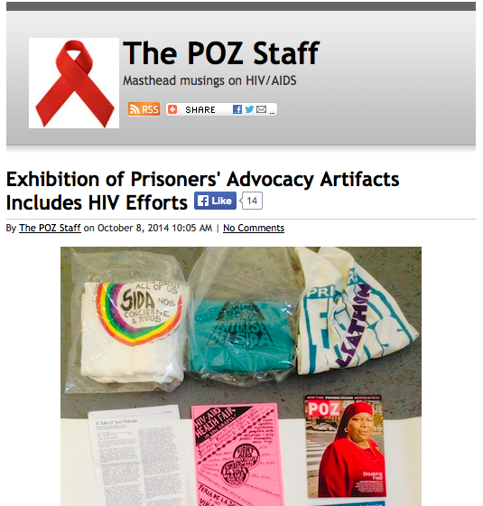 POZ blogs cover Self-Determination Inside/Out exhibition