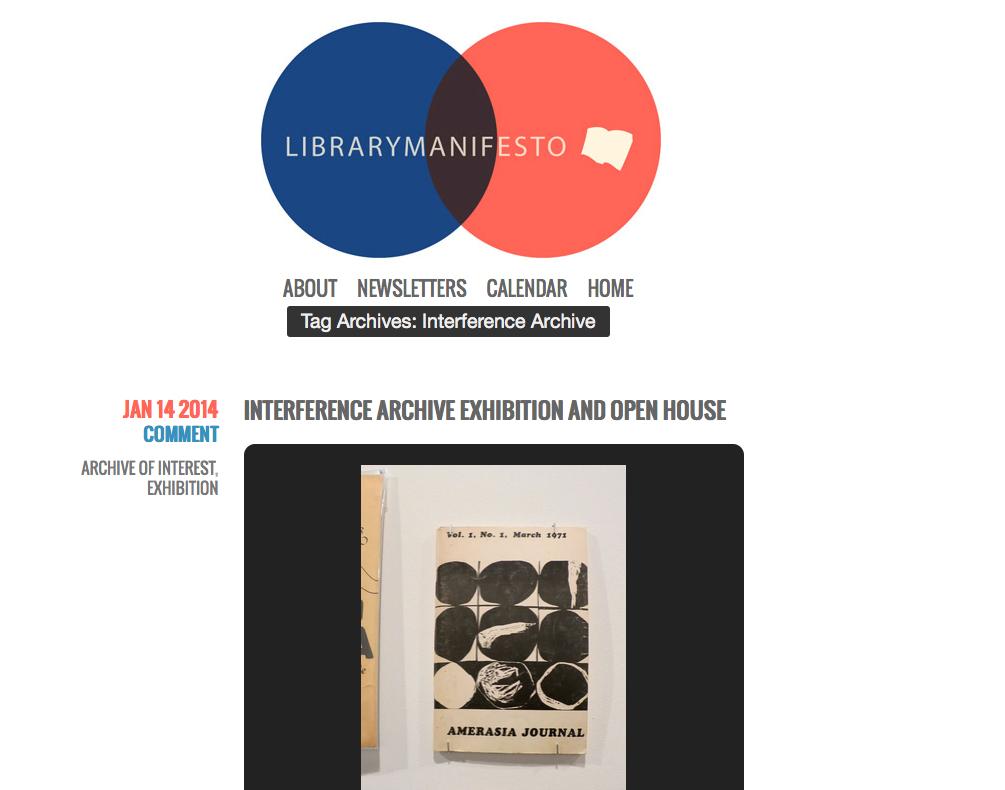 Library Manifesto: January 14, 2014