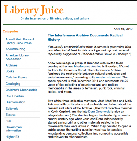 Library Juice Blog