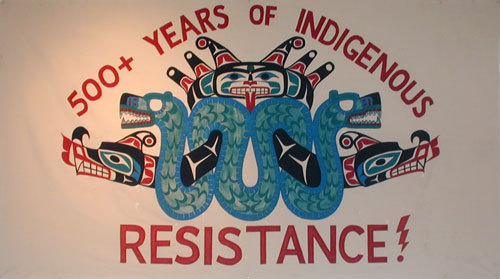 Gord Hill image of 500+ Years of Indigenous Resistance